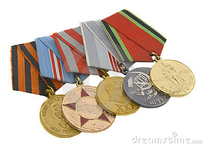 The medals of soviet heroes