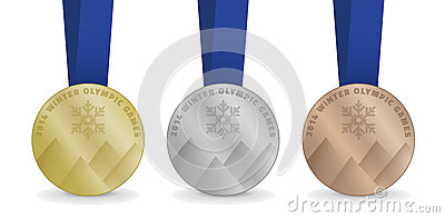 Vector Medals for Winter Olympic Games 2014