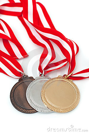 Free Medals  With Ribbons Royalty Free Stock Photo - 16361795