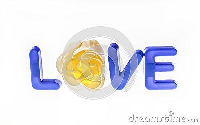 Meddelande av förälskelse