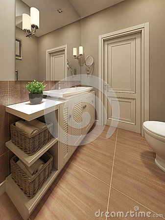 Badrum badrum medelhavs : Medelhavs- Design För Badrum Arkivfoto - Bild: 59209513
