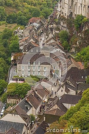 Medeltida town av Rocamadour, Frankrike