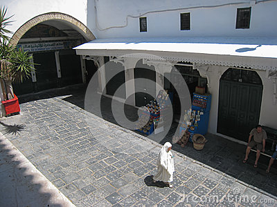Mosque Es Zitouna street. Tunis. Tunisia Editorial Stock Photo