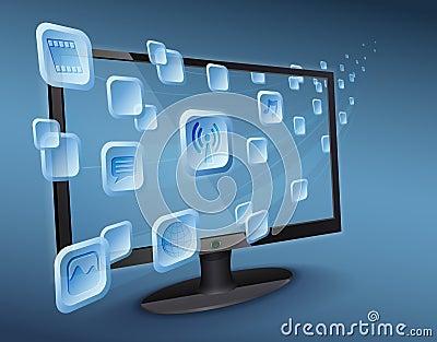 Media app stream on wlan connected Internet TV