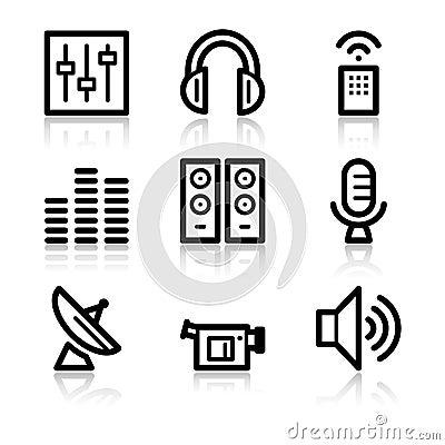 Media contour web icons