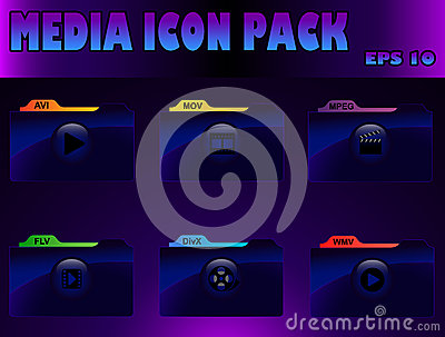 Media icon pack