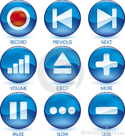 Free Media Icon Set (1of4) (vector) Royalty Free Stock Photography - 4201117