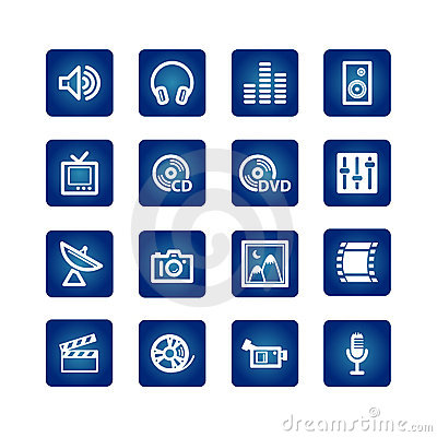Free Media Icon Set Royalty Free Stock Photography - 2011277