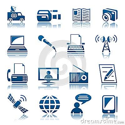 Free Media Icon Set Stock Photo - 29593380