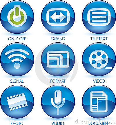 Free Media Icon Set (2of4) (vector) Stock Photography - 4201452