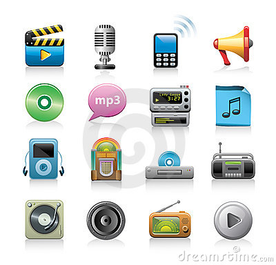 Free Media Icons Stock Images - 14544024