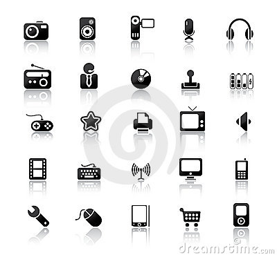 Free Media Icons Stock Photos - 9252263