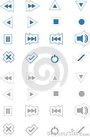 Media Icons Blue