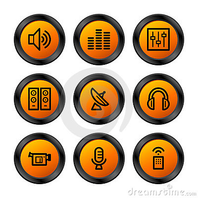 Media icons, orange series