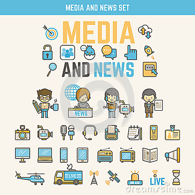 Media And News Infographic Elements For Kid Stock Vector - Image ...