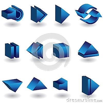 Media Player 3D Icon Set