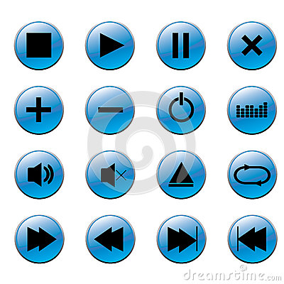 Free Media Player Buttons Stock Image - 42893641