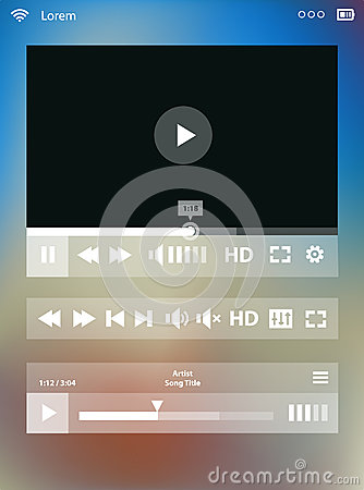 Free Media Player Template Stock Image - 51931651