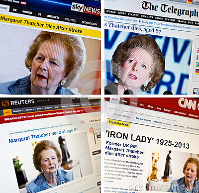 Margaret Thatcher passes away Editorial Photo