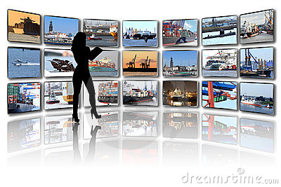 Media room, Ships and harbour