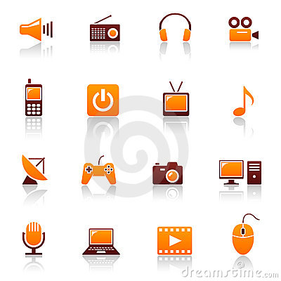 Free Media & Telecom Icons Royalty Free Stock Photography - 13804647