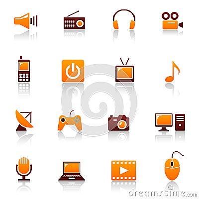 Media & telecom icons