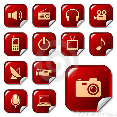 Free Media & Telecom Web Icons Stock Image - 10025071
