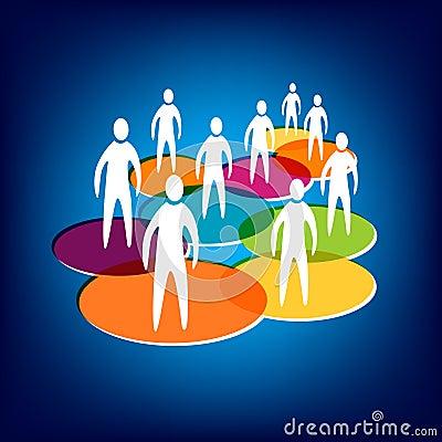Media y establecimiento de una red sociales