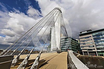 The MediaCityUK in Manchester England. Editorial Stock Photo