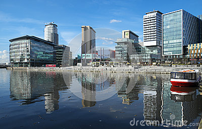 MediacityUK at Salford Quays Editorial Image