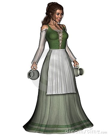 Free Mediaeval Or Fantasy Tavern Wench Royalty Free Stock Image - 11008666