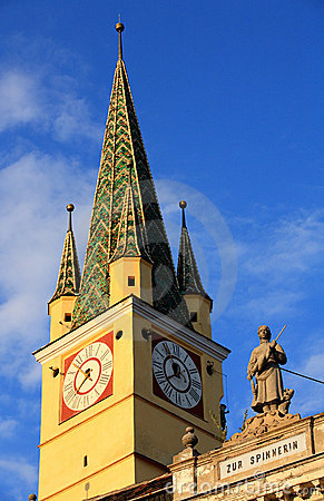 Free Medias Old Church Tower Royalty Free Stock Photos - 2822908