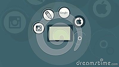 Medias sociaux Apps illustration de vecteur