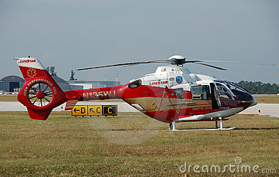 Medical airlift helicopter Editorial Stock Image