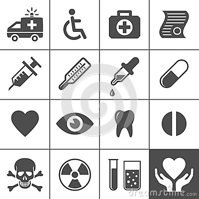 Free Medical And Health Icon Set Stock Photo - 32345600