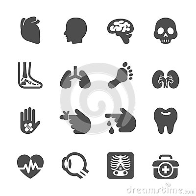 Free Medical And Organ Icon Set, Vector Eps10 Stock Photography - 57260022
