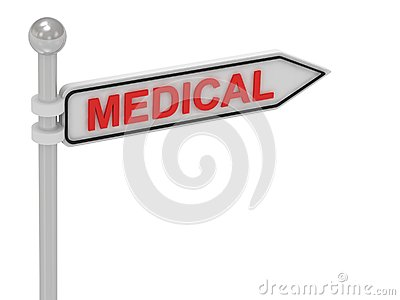 MEDICAL arrow sign with letters