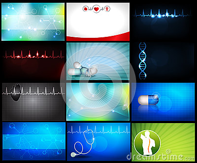 Medical backgrounds or business cards
