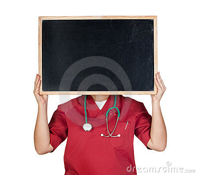 Medical with blackboard