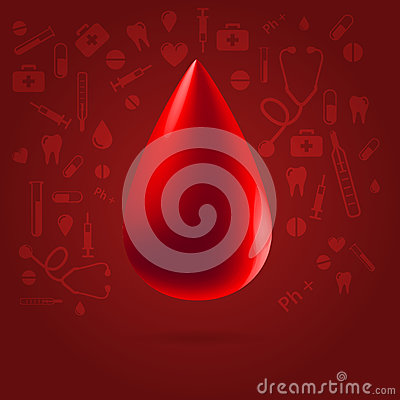 Medical blood donation concept illustration