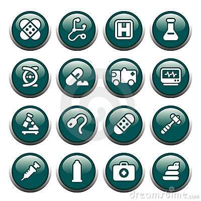 Free Medical Buttons Stock Photo - 1685130