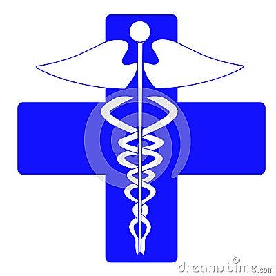 Medical caduceus charm