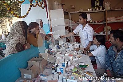 Medical camp Editorial Image