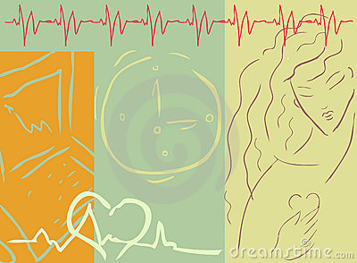 Medical cardio background