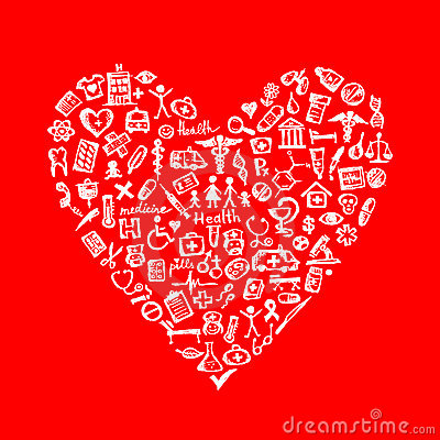 Free Medical Design Elements In Heart Shape Royalty Free Stock Photo - 21735715