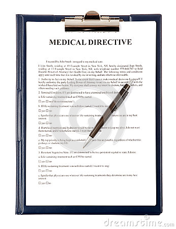 Medical directive document