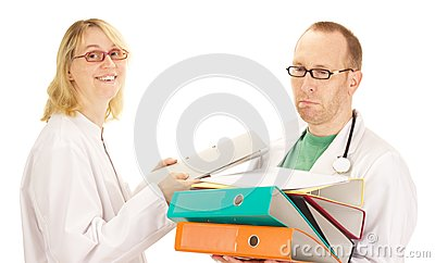 Medical doctor with a lot of work