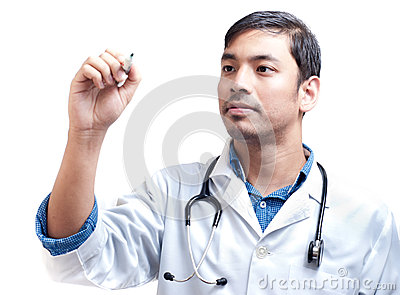 Medical Doctor with Pen in Hand