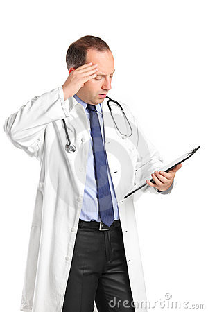 A medical doctor realizing a mistake