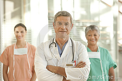 Medical doctor and staff